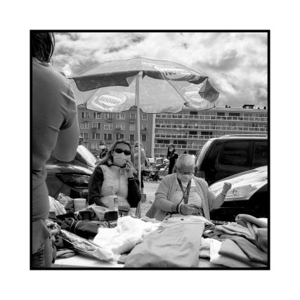 Vide-grenier, Dieppe, France.